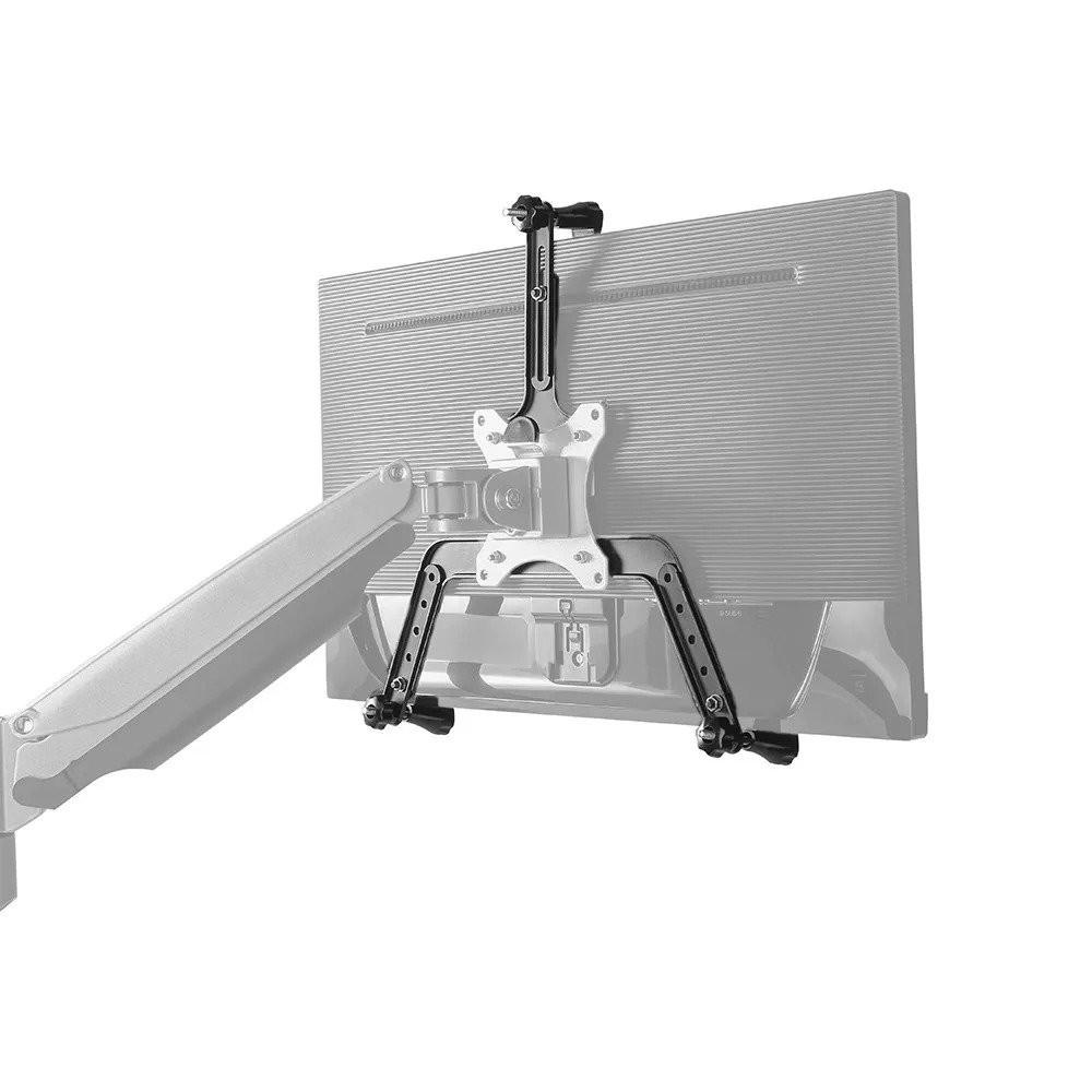 visão traseira com adaptador vesa sem furação