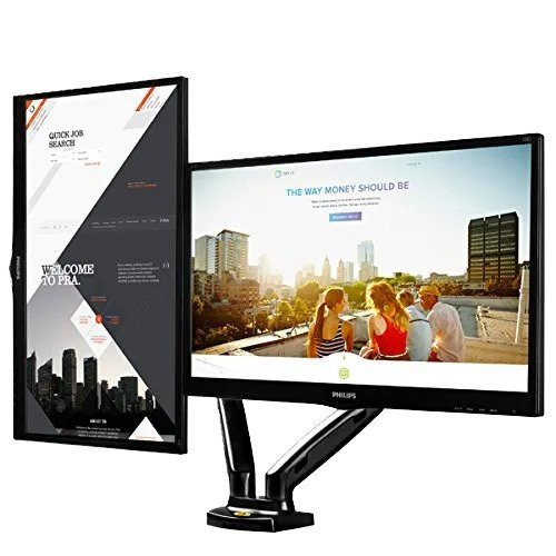 Imagem suporte monitor articulado de mesa 2 monitores