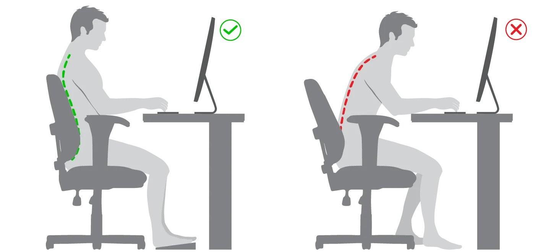 A Postura certa e errada no uso de computadores NR-17